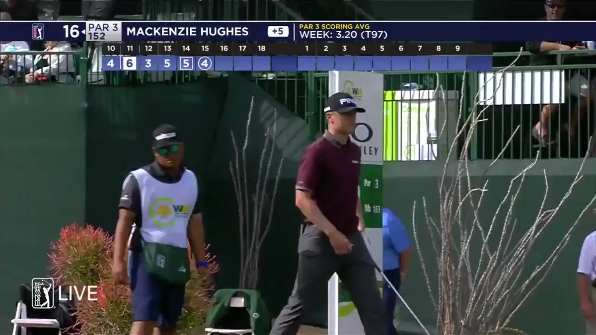 Making his fellow @MapleLeafs fans proud.  Mackenzie Hughes just made birdie while rocking an @AM34 jersey at 16. https://t.co/eAlAEyPrJV
