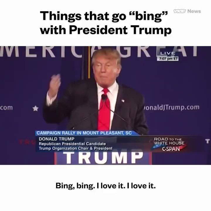 21 things that President Trump says make a 'bing' sound