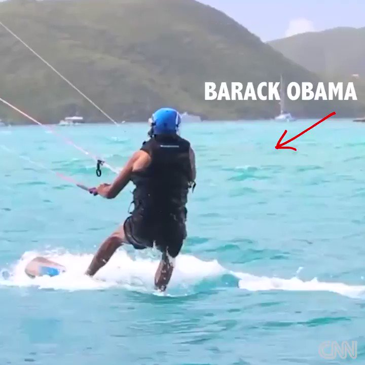 Things you can do when you're no longer President: Watch President Obama kitesurf with Richard Branson http://cnn.it/2kcf14Q