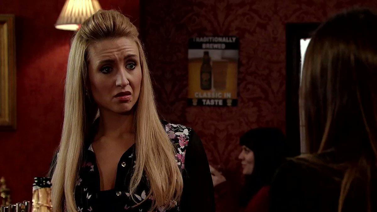 Oh no Michelle.. you're lashing out at a totally innocent Eva. #Corrie...
