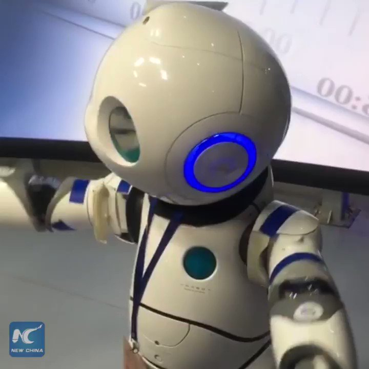 This robot interviewed lawmakers at a parliamentary session