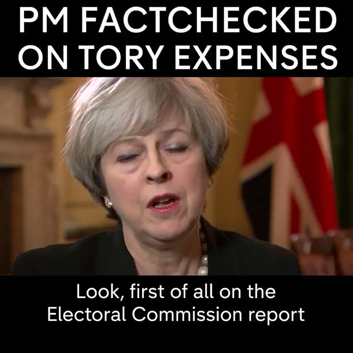 One year ago Theresa May responded at PMQs to the #electionexpenses report. Heres a Factcheck of her previous comments. #bbcdp #bbcpm #ToriesOutNow #bbcaq #marr