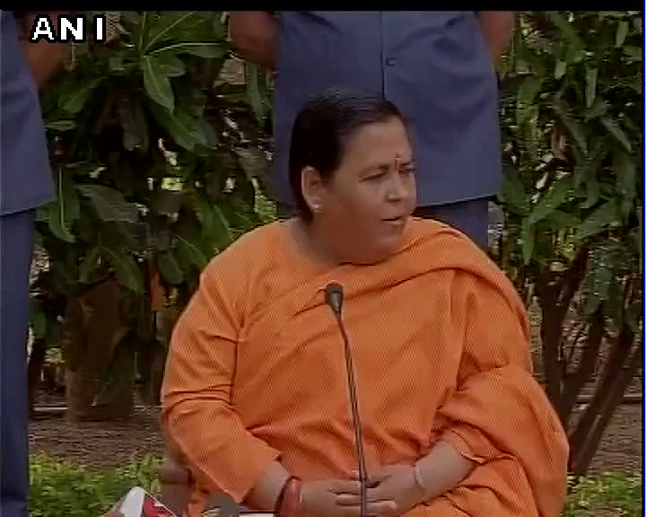 Video: Union Minister Uma Bharti reacts on no red beacons for Punjab, Uttar Pradesh Ministers