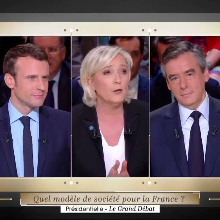 Madame Le Pen, je n'ai pas besoin d'un ventriloque. #LeGrandDébat http...