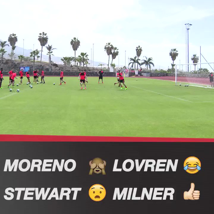 On your head! ⚽  Watch more from #LFC training in Tenerife: https://t....