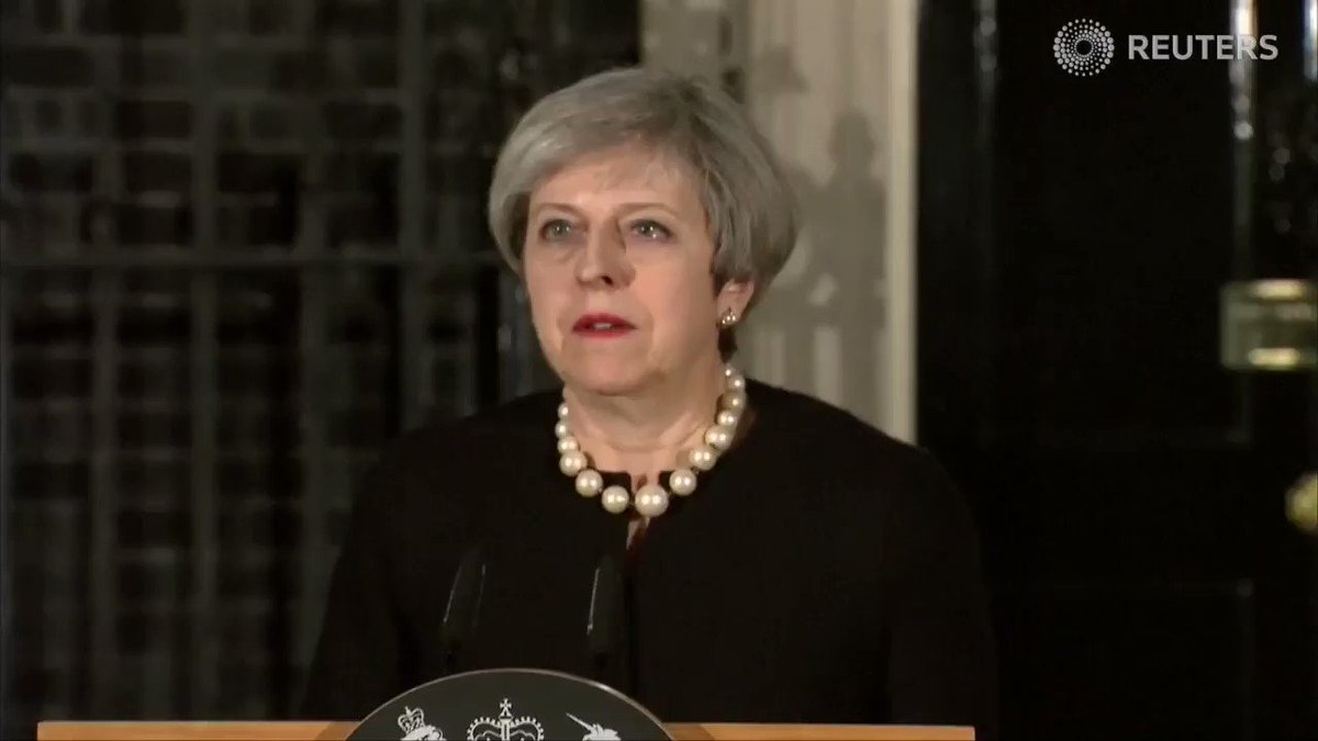 WATCH: British PM Theresa May condemns today's #Westminster attack as...