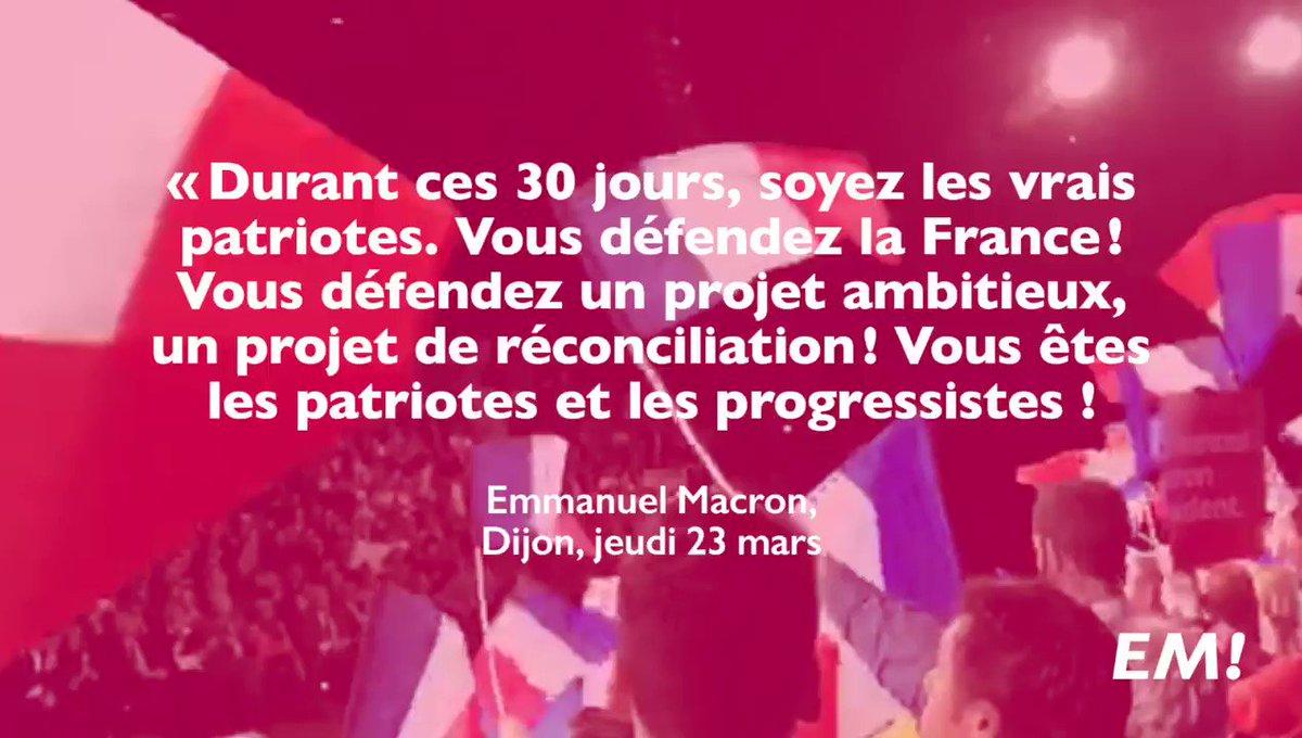 Nous voulons l'avenir et nous sommes le seul projet d'espérance ! #MacronDijon