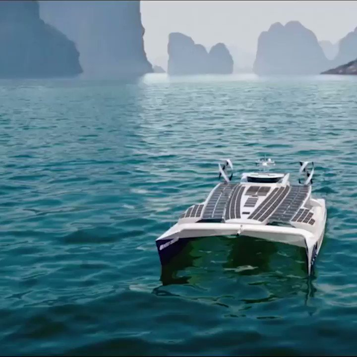 Impressive! #Hydrogen sets sail: @energy_observer, a self-sufficient #renewableenergy plus hydrogen-powered yacht, is on a round-the-world-trip! #ClimateChange  Interested in clean hydrogen? Join hydrogen group on LinkedIn: 🔴https://t.co/fzVS9nu8B7  https://t.co/YaJwTv89K7