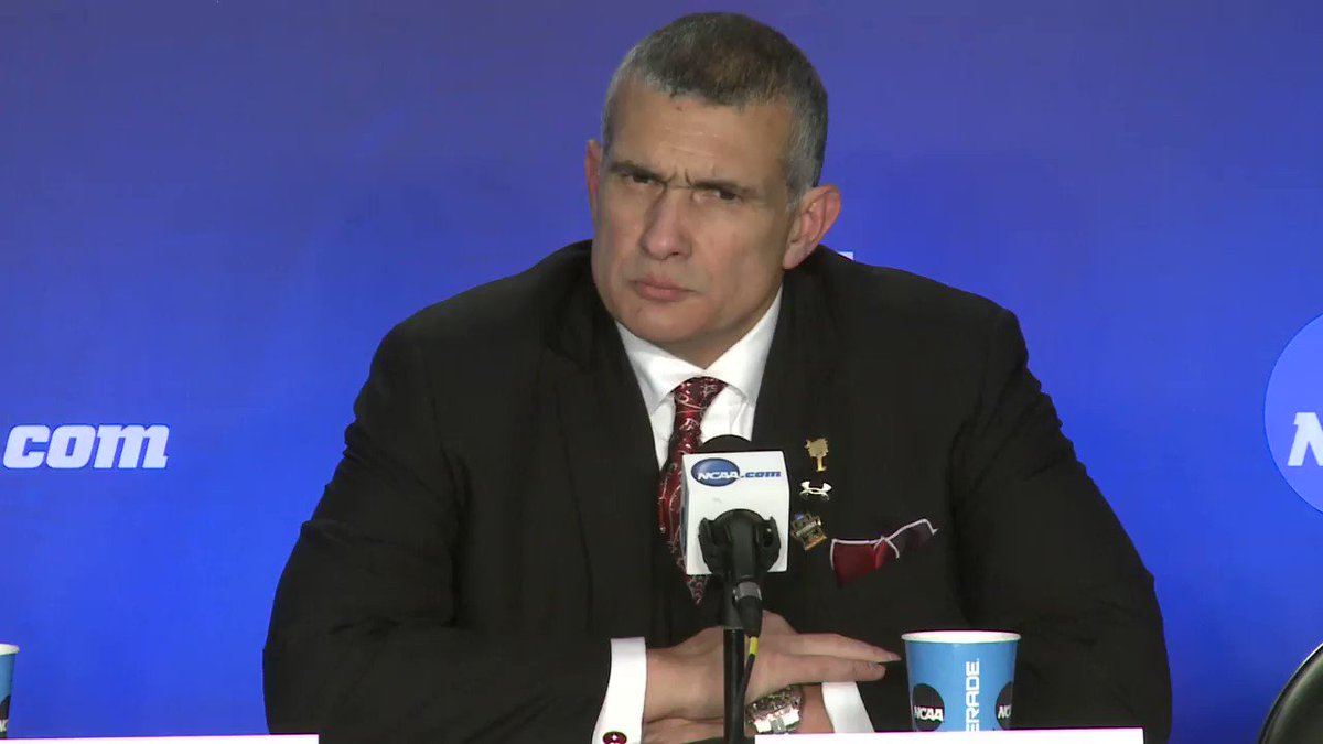 The best question of Frank Martin's press conference was asked by a ki...