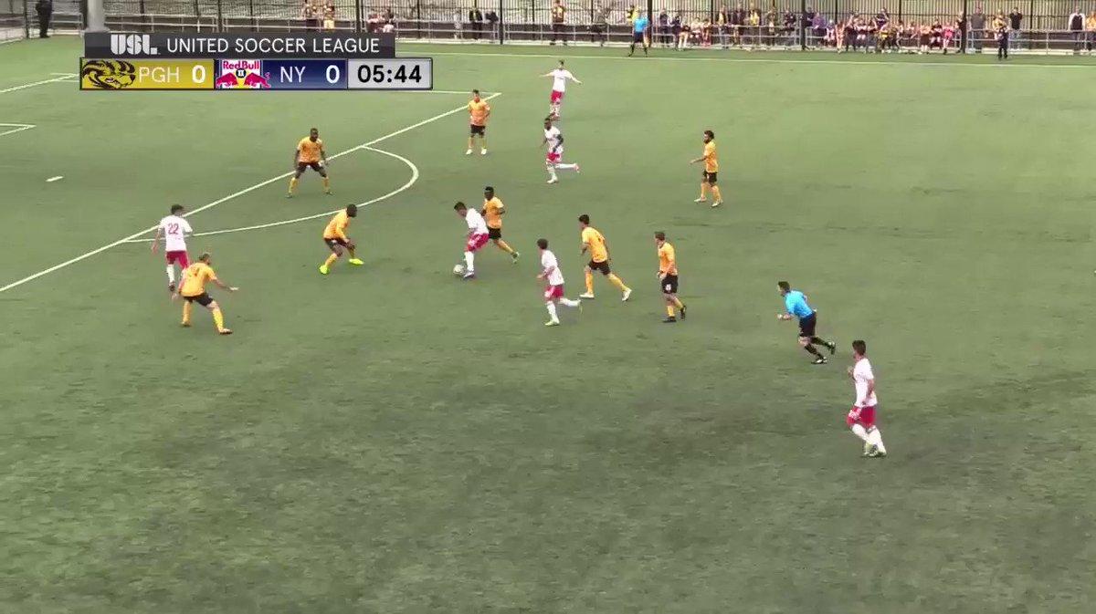 .@NYRBII's Valot scores the 1st #USL goal of the season! ⚽  #PGHvNY #R...