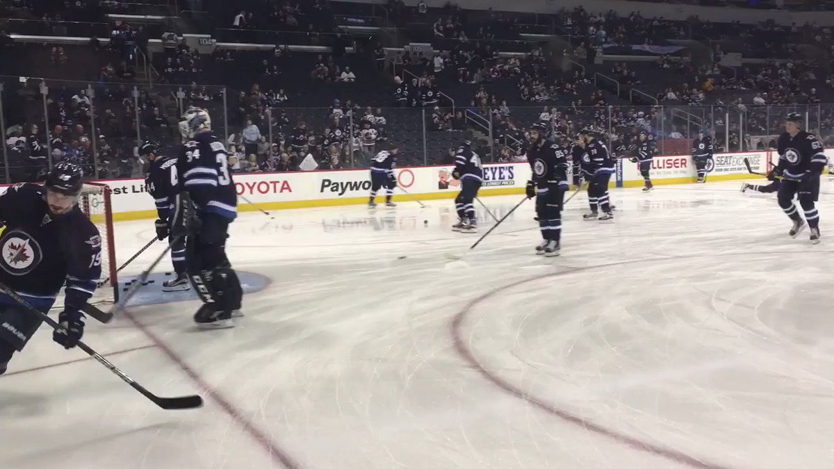 .@mhutch34 working on the handles in warm up! #VANvsWPG https://t.co/S...