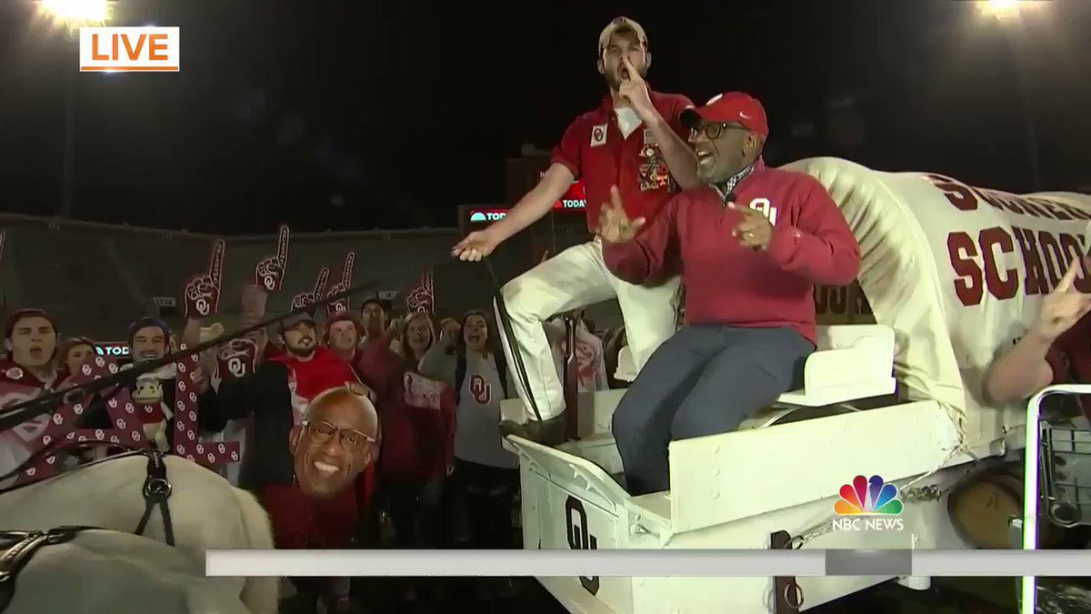 Are you ready for day one of #Rokerthon?! @AlRoker is at @UofOklahoma...