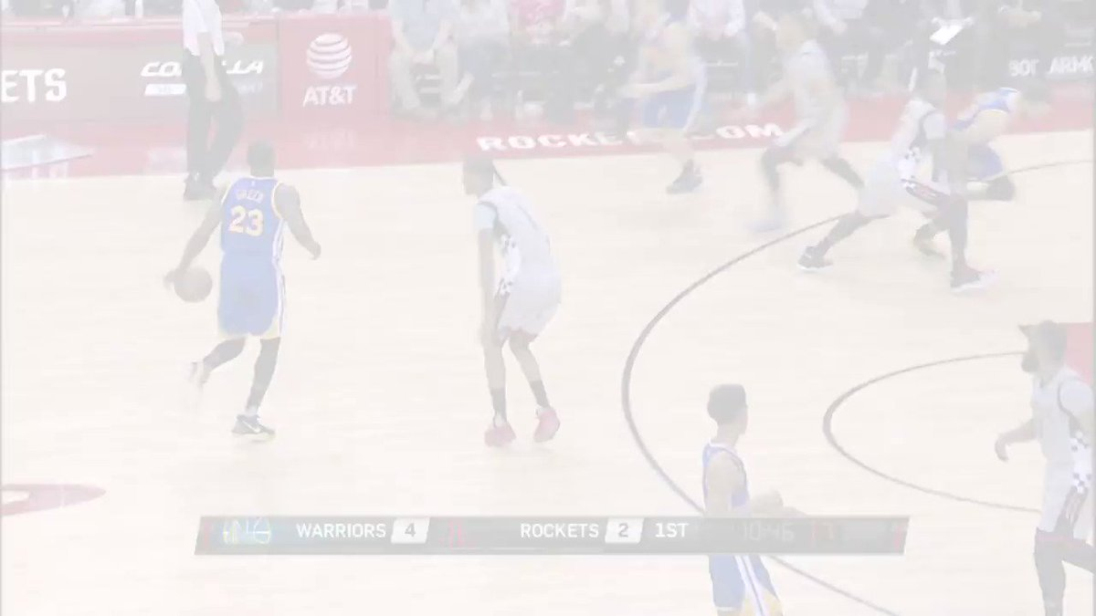 Stephen Curry and James Harden battle as @warriors take round 3! https...