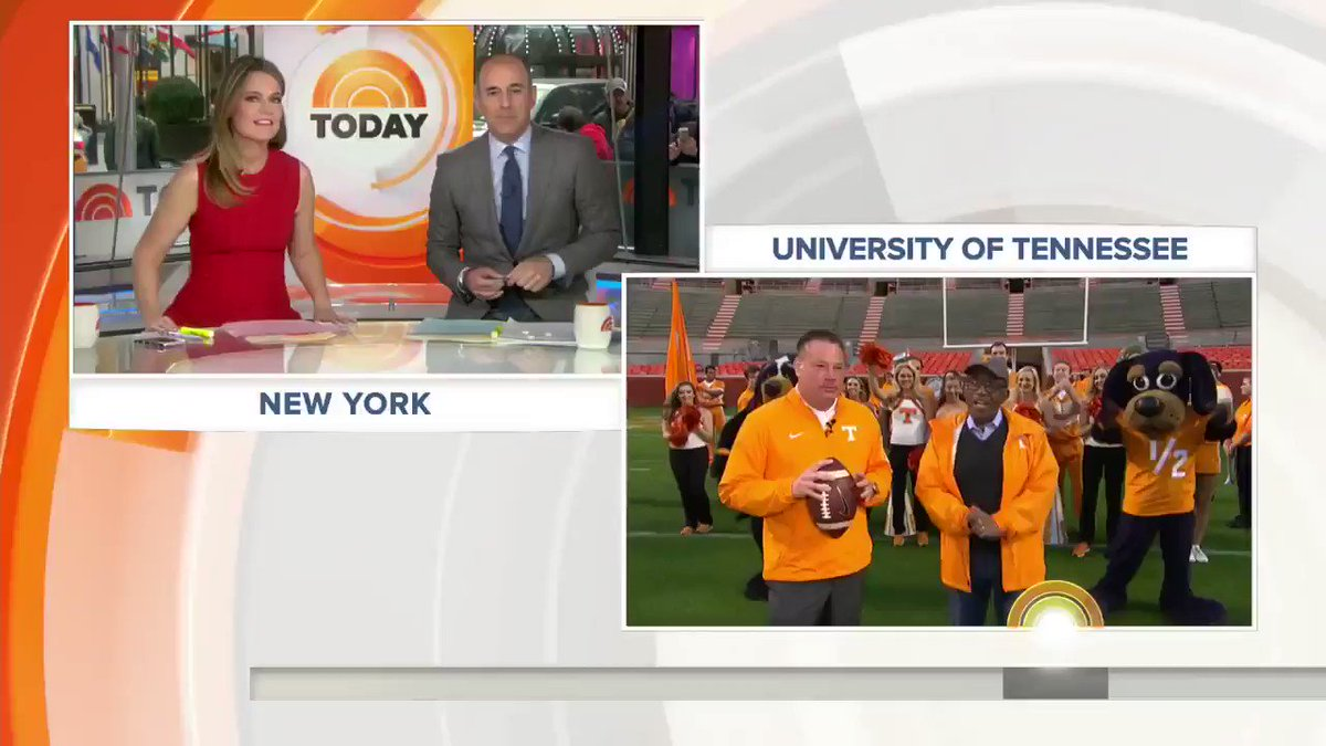 Great catch, @AlRoker! He's having the time of his life at @UTKnoxvill...