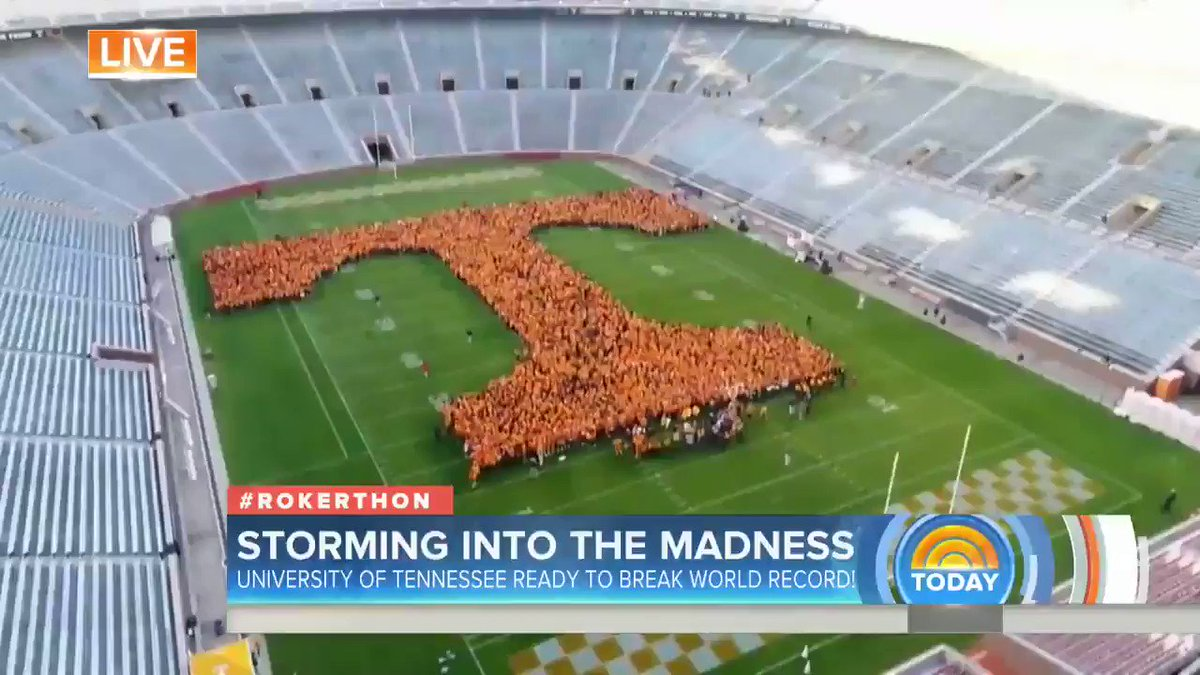 .@UTKnoxville's letter formation is coming along beautifully! Will the...