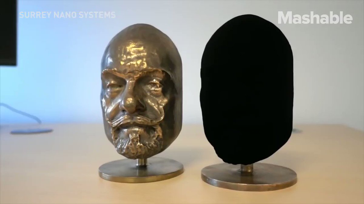 This ultra-black material will totally mess with your mind