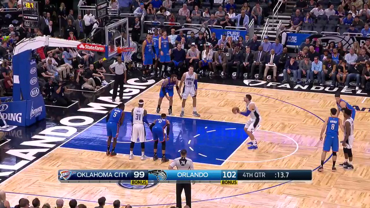 #WhyNot?  Russell Westbrook sends it to overtime on @NBATV! https://t....