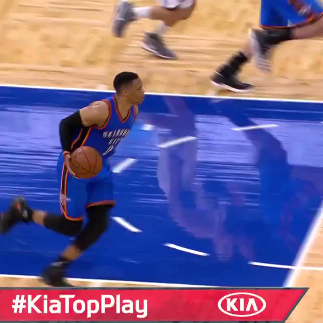Russell Westbrook sends it into overtime for the #KiaTopPlay as @okcth...