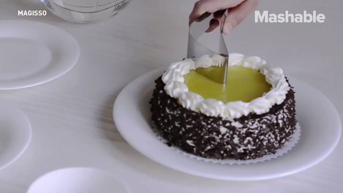 This gadget will give you perfect cake slices