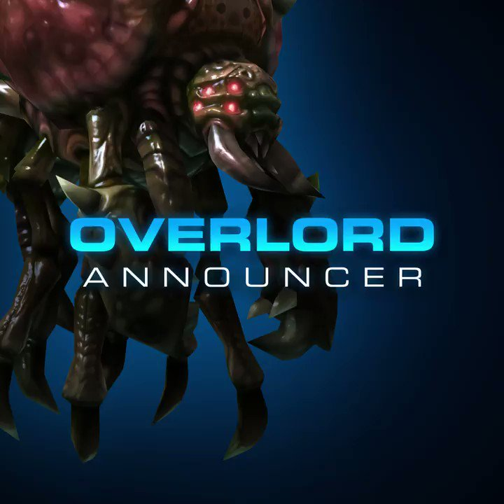 Overlord Announcer coming to StarCraft II! https://t.co/Uzgpu5ykHB