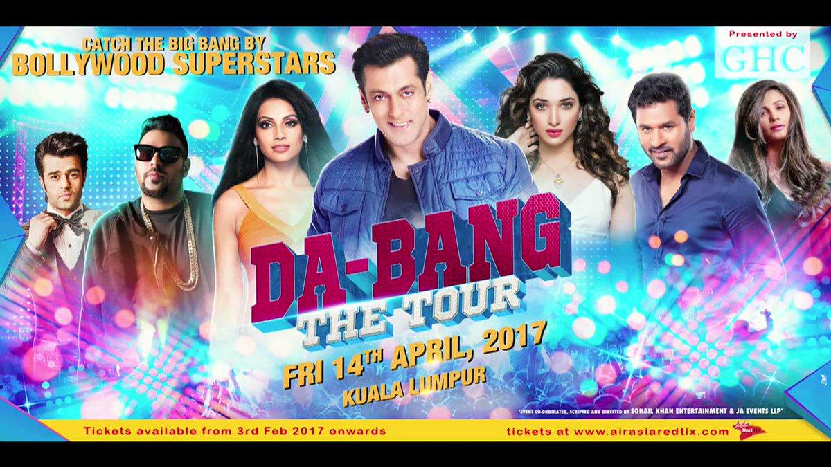 Get Ready Malaysia for Da Bangg Tour of the year . #Dabangtourmalaysia #DabangKL