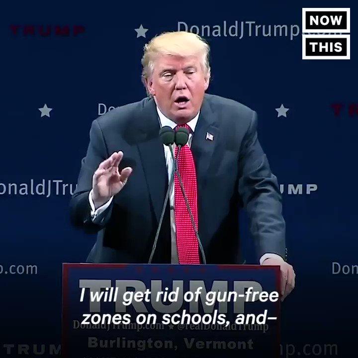 revisit Trump Betsy DeVos remarks guns schools yesterday