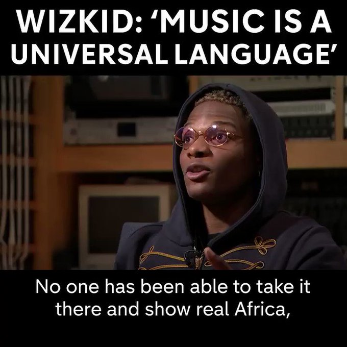 Afrobeats artist Wizkid talks about using the genre's rise to the mainstream to change global perceptions of Africa.