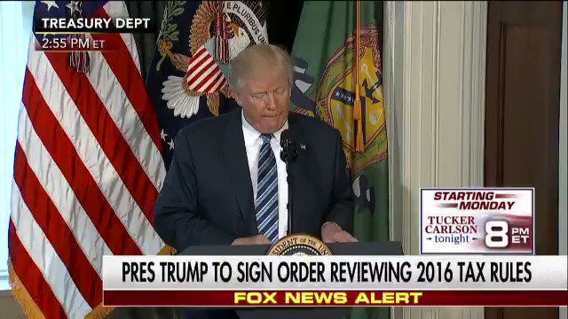 'Presidential Executive Order on Identifying and Reducing Tax Regulatory Burdens' Executive Order: https://t.co/vk0jEZDHPo