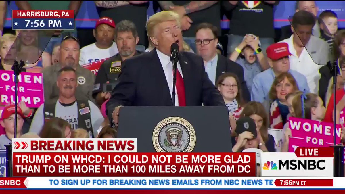 As Trump speaks, it appears someone briefly threw a bunch of Russian flags up in air in front of the pool camera.