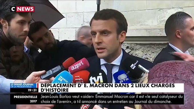 .@EmmanuelMacron en déplacement au #mémorial de la #Shoah à Paris