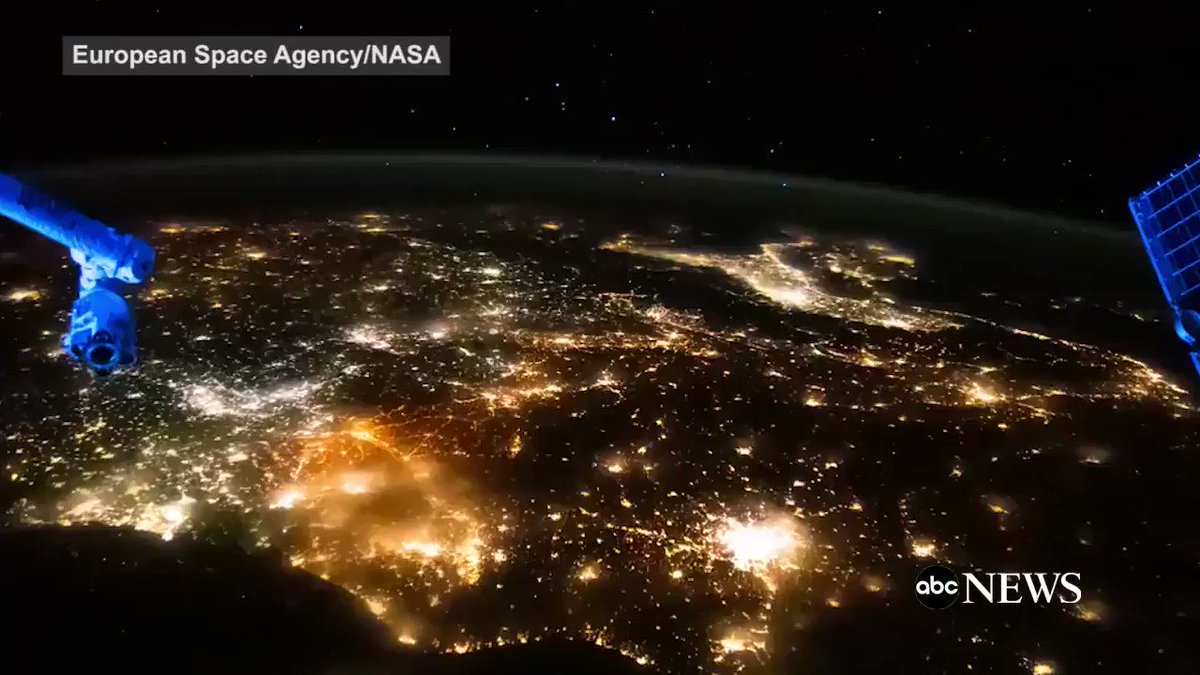 Breathtaking video from astronaut Thomas Pesquet shows a glittering Europe as seen from International Space Station: https://t.co/1XEgmdIWX1