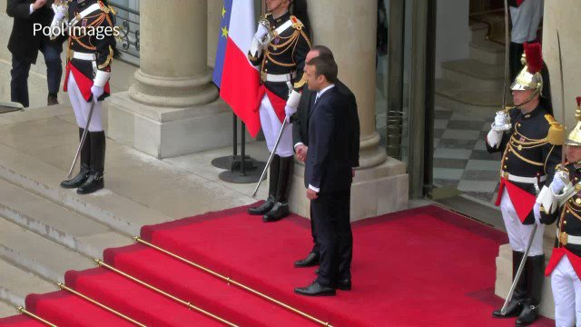 Emmanuel Macron inaugurated as France's youngest ever president, taking over from Francois Hollande #Macron