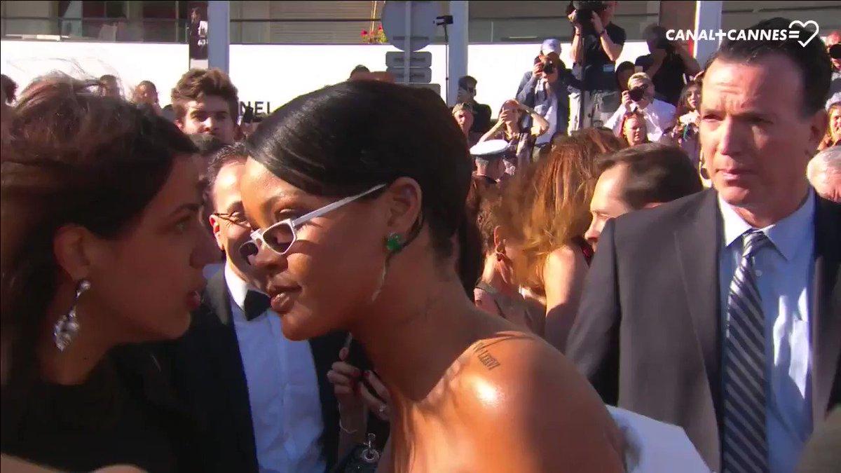 😂 Toujours aussi difficile d'interviewer #Rihanna #Cannes2017