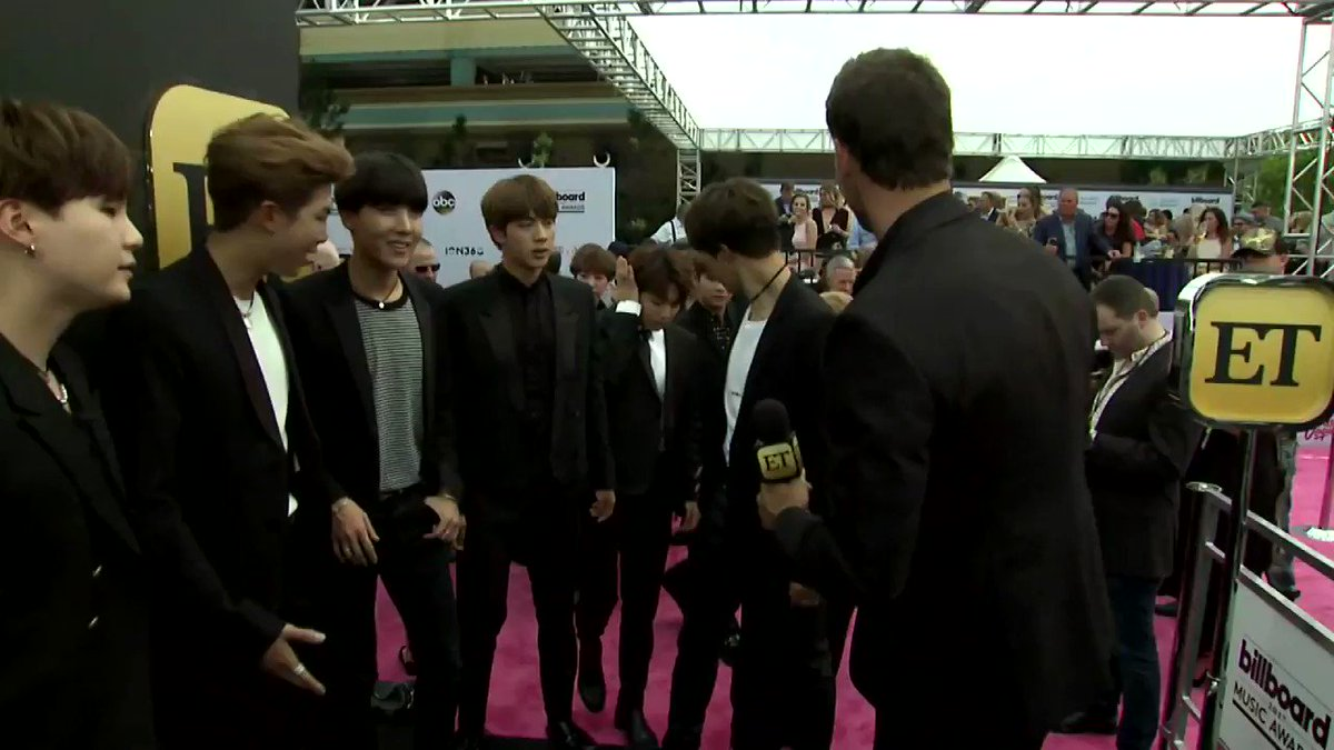 Before @BTS_twt won big at the #bbmas, they were so cute during our interview! Congrats, guys! #BTSBBMAs