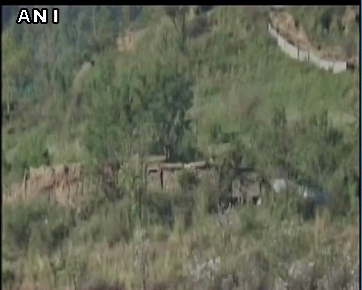 #WATCH Pakistani posts destroyed by Indian Army in Nowshera (Jammu and Kashmir)