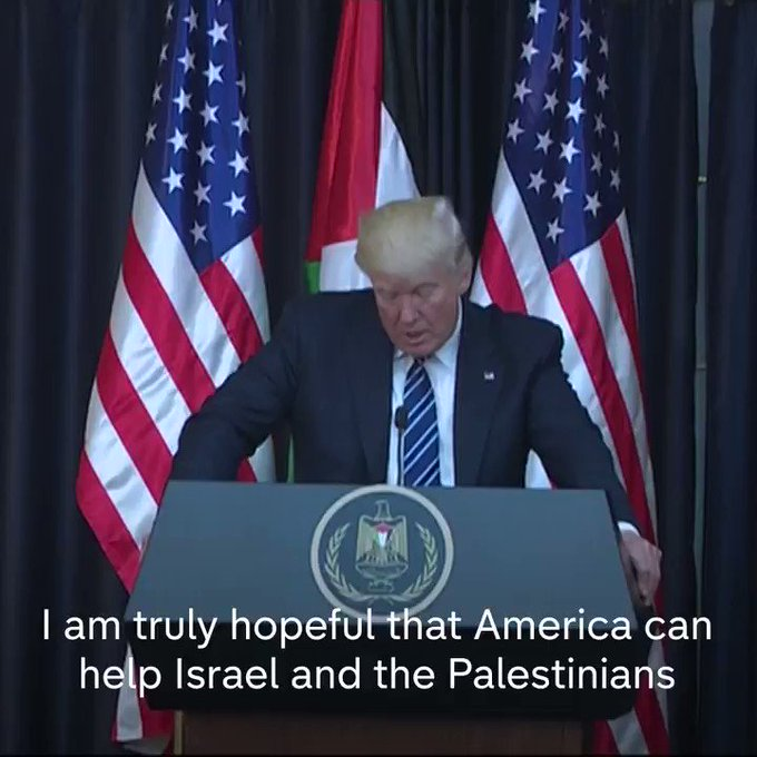 Speaking in Bethlehem, President Donald J. Trump says peace in the Middle East 'would be an amazing accomplishment.'