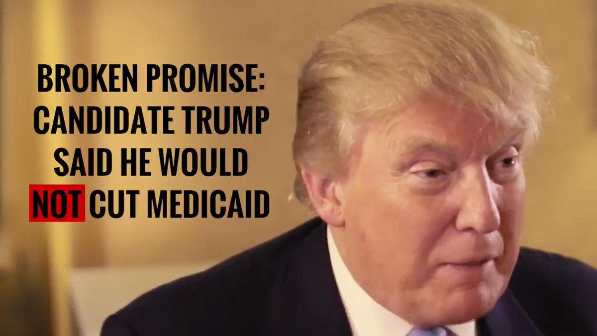 "Candidate Trump: ""I'm not going to cut … Medicaid."" #TrumpBudget: Devastating cuts to Medicaid."