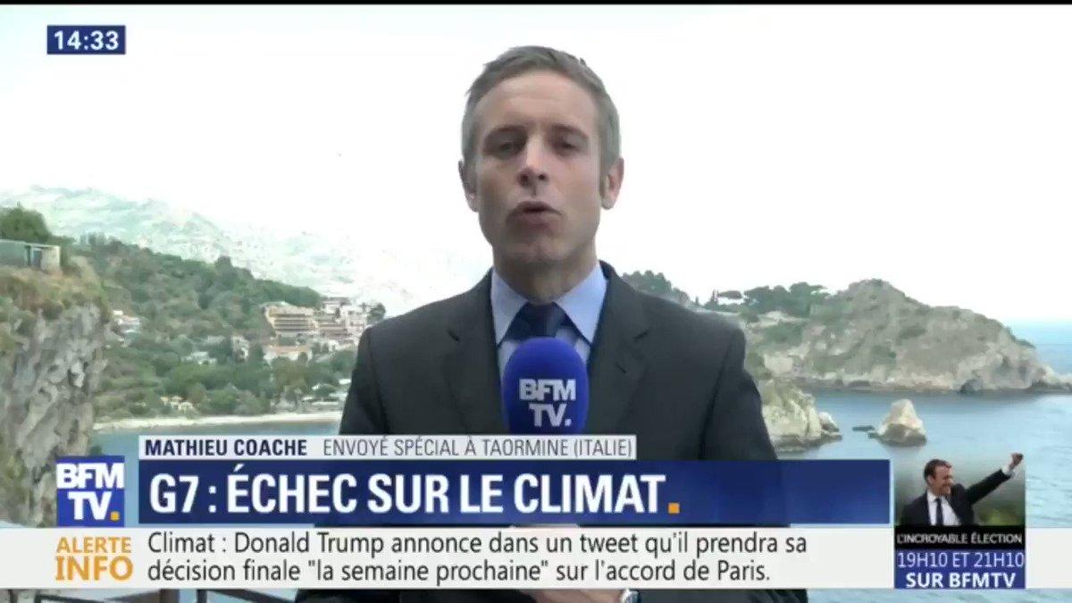 Echec du #G7 sur le #climat : les Etats-Unis de Donald Trump refusent de s'accorder avec les six autres nations
