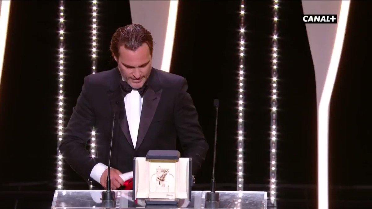 #JoaquinPhoenix (Prix d'Interprétation masculine) 'Je suis sans voix' #YouWereNeverReallyHere #Cannes70 #Cannes2017