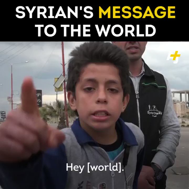 This Syrian child has a message for you. And it's heartbreaking.