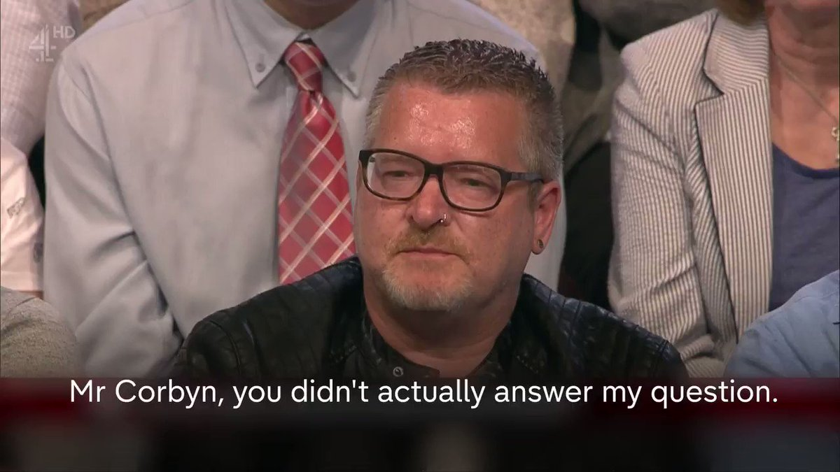 .@JeremyCorbyn is asked by an audience member whether he openly supported the IRA in the past. #BattleForNumber10