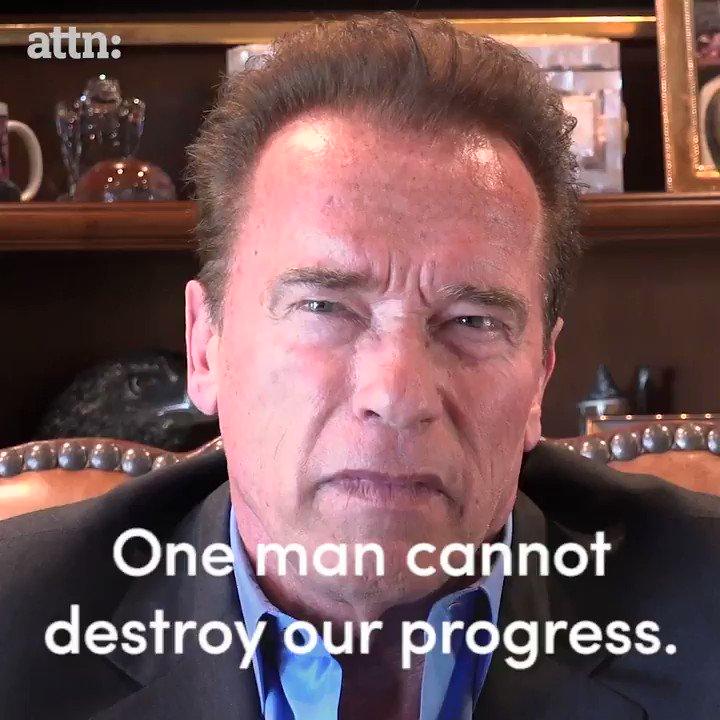 BREAKING: Arnold Schwarzenegger has a blunt message for Donald Trump. #ParisAgreement