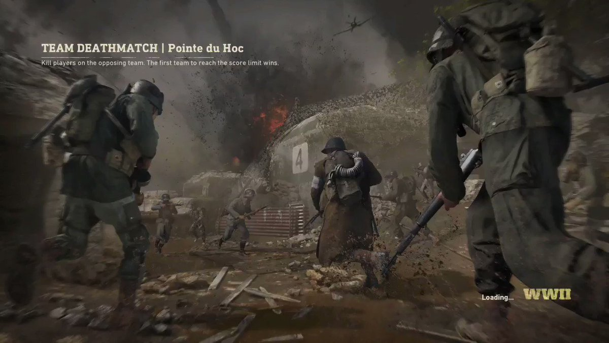 Here's a full length TDM match on Pointe du Hoc. #CODWWIIMP https://t.co/4YeUvyiaIJ