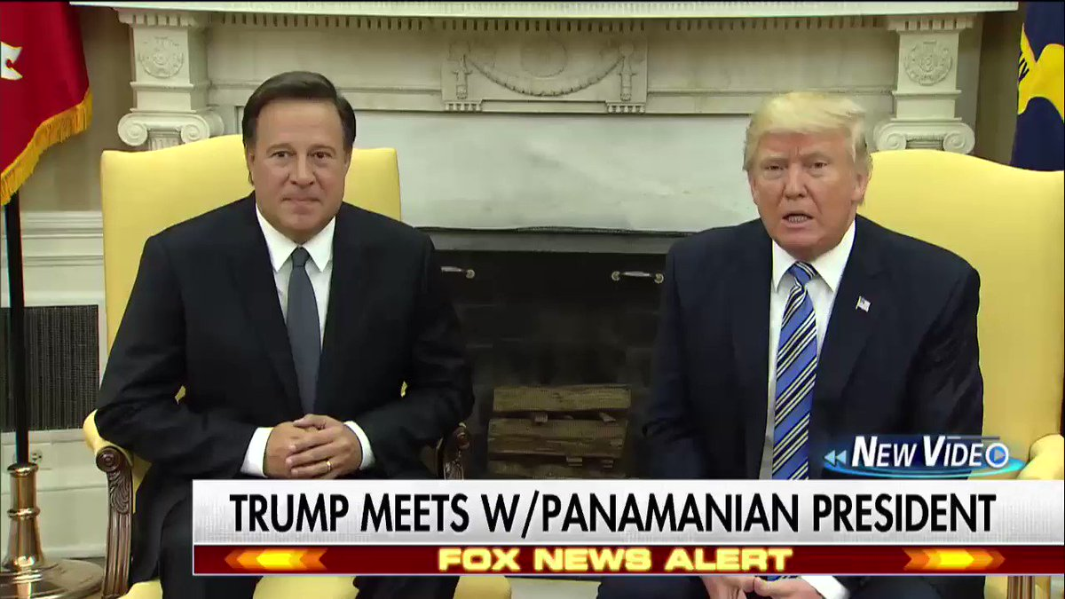 .@realDonaldTrump welcomed the President of Panama, @JC_Varela to the @WhiteHouse earlier today.