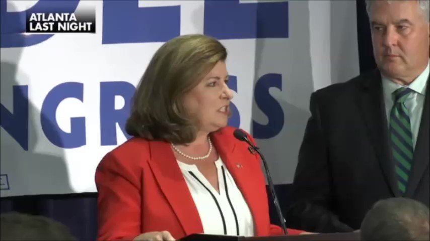 Crowd bursts into 'Trump' chant after Karen Handel thanks POTUS in her special election victory speech