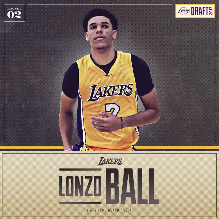 Lonzo is staying home!!  Welcome to the #LakeShow @ZO2_!! https://t.co/pSIlNl0EWu