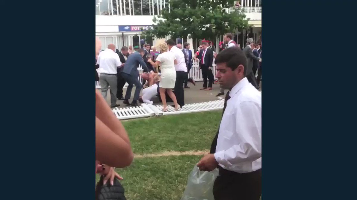 Well, this brawl at Royal Ascot escalated quickly...