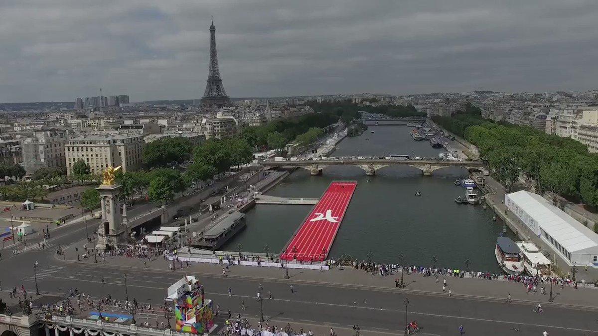 🎥 Experience #OlympicDay in #ParisParcOlympique 🙌 #VenezPartager la #JournéeOlympique à @Paris 😎 #Paris2024 #ReadyFor24