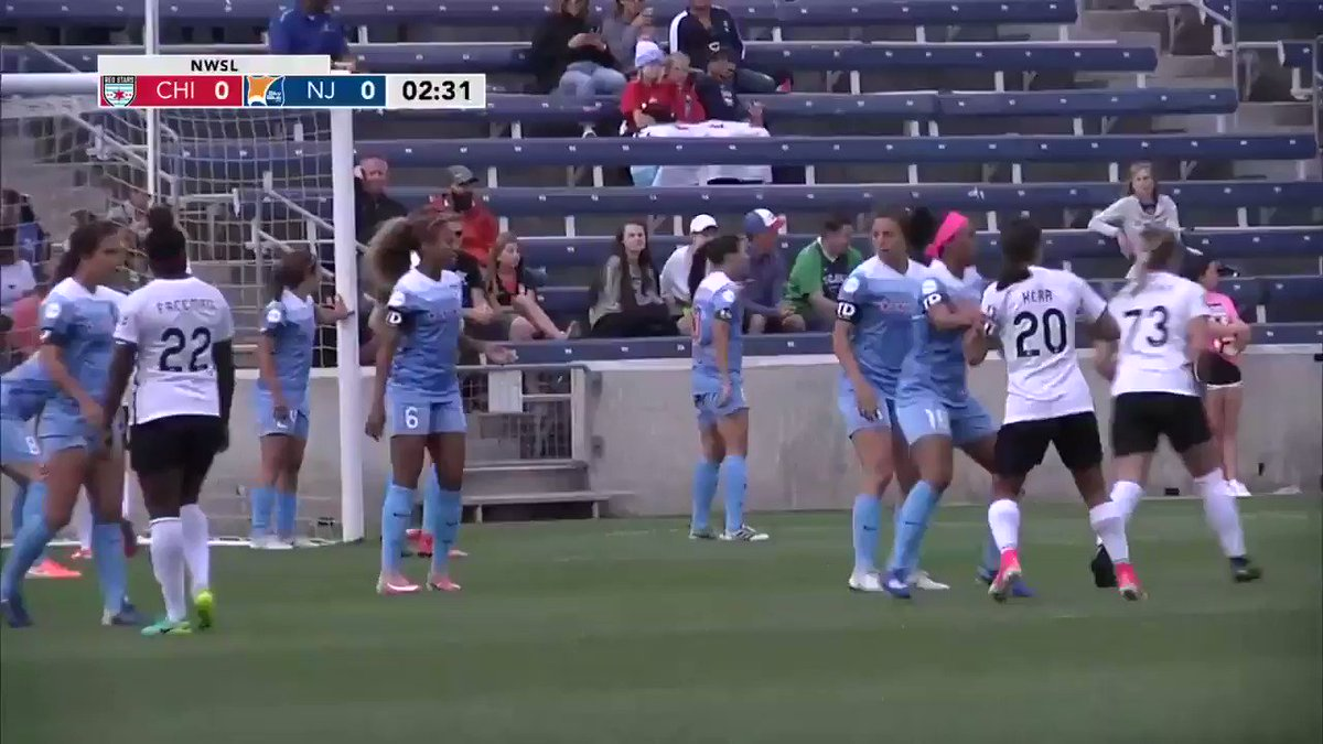 3' - @MadisonTiernan with the header scores to give @SkyBlueFC an earl...