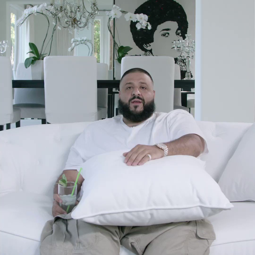 A major 🔑 from @djkhaled 🙏.  Show us how you #CantStopWontStop here: h...
